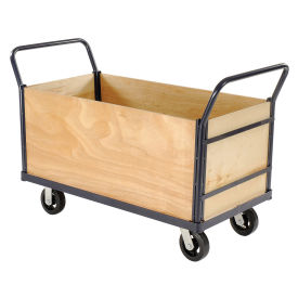 Euro Style Truck - 4 Wood Sides & Deck, 60 x 30, 2400 Lb. Capacity