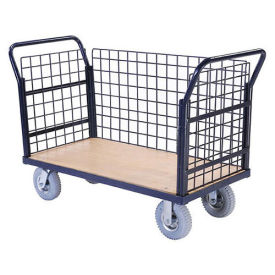 Euro Style Truck - 3 Wire Sides & Wood Deck, 48 x 24, 1200 Lb. Capacity