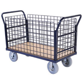 Euro Style Truck - 4 Wire Sides & Wood Deck, 48 x 24, 1200 Lb. Capacity