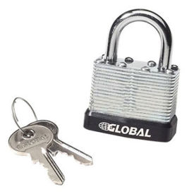 Steel Padlock with Bumper and 2 Keys - Keyed Differently