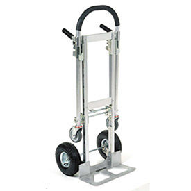 Aluminum 2-in-1 Convertible Hand Truck with Pneumatic Wheels - Junior