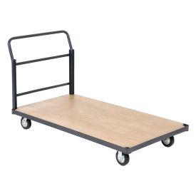 "Steel Bound Platform Truck w/Wood Deck, 60 x 30, 5"" Rubber Casters, 1400 Lb. Capacity"