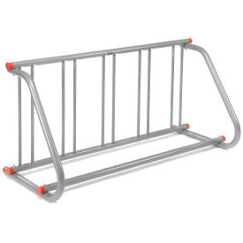 "61-5/8""L Grid Bike Rack, Single Sided, Powder Coated Galvanized Steel, 5-Bike Capacity"