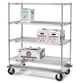 E-Z Adjust Wire Shelf Truck with Dolly Base, 60x24x70, 1600 Lb. Cap.