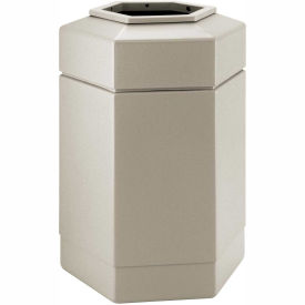 Commercial Zone Waste Receptacle, 30 Gallon, Beige