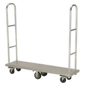 Aluminum Deck Narrow Aisle High End Narrow Aisle U-Boat Platform Truck 63 x 16 1500 Lb.