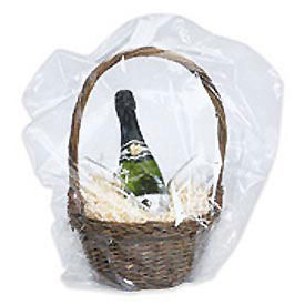 """24""""Wx24""""L PVC Domed Shrink Bag, 100 Gauge, Clear, 100 Pack"""