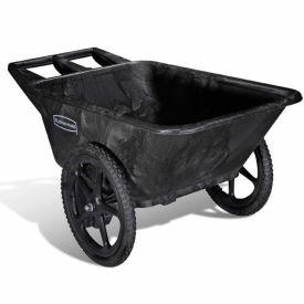 """Rubbermaid Big Wheel 5642 Black Utility Agriculture, Nursery & Farm Cart, 58""""L x 32-3/4""""W x 28-1/4""""H"""