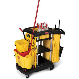 """RUBBERMAID High Capacity Cleaning Cart - 49-3/4x22x44"""""""