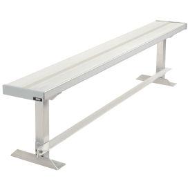 Team Bench, 6'L, Aluminum
