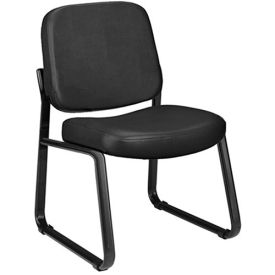 """OFM Anti-Microbial Vinyl-Upholstered Chairs - 21-3/4x26-1/2x33"""" - Without Arms - Black"""