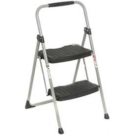 Werner 2 Step Steel Folding Step Ladder 225 lb. Cap