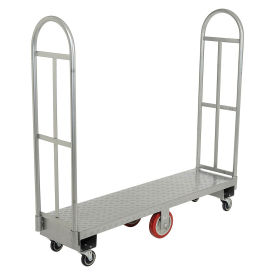 "U-Boat® Diamond Steel Deck, 63""L, Poly Wheels"