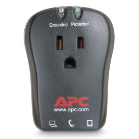 APC Single Outlet Travel Surge Protector with Phone Line Protection, 120V, P1T