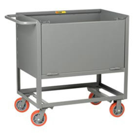 """Little Giant Raised Platform Truck with Drop-Gate, Solid Sides, 48""""L x 30""""W x 40""""H"""