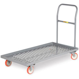 "LITTLE GIANT Platform Trucks with Lip Edge - 36""Lx24""W Deck - Perforated Deck"