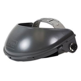 "Fibre-Metal Hard Hat F400 Crown Ratchet Headband, 4"", Gray"