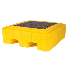 UltraTech 9607 Ultra-Spill Pallet Plus Containment Pallet P1 1-Drum with Drain