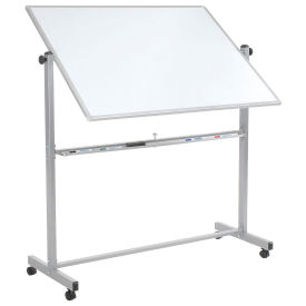 "Double Sided Rolling Magnetic Dry Erase Whiteboard, 48"" x 36"""