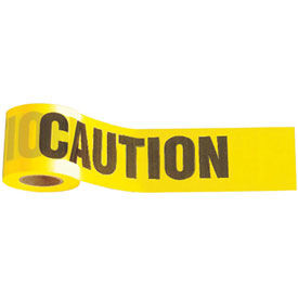 """Caution"" Tape, 1,000' x 3"", Yellow, 1 Roll"