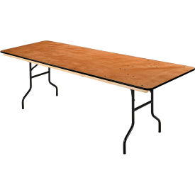 "Rectangular Folding Banquet Table, 96"" x 30"", Plywood"