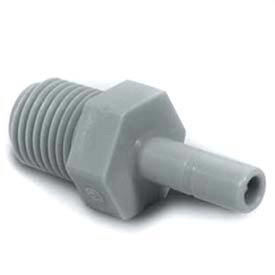 "Push-In-Fitting 1/2"" Stem Adapter With 3/8"" Nptm Thread  - Pkg Qty 10"