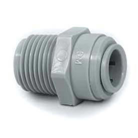 """Push-In-Fitting 1/4"""" Male Connector With 1/8"""" Nptm Thread  - Pkg Qty 10"""