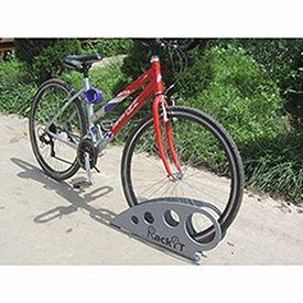 """Boot Bike Rack, Galvanized Steel, 25-5/8""""L x 2-5/8""""W x 11-1/16""""H"""