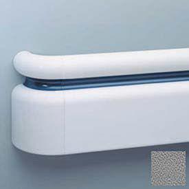 "3-Piece Handrail System, Vinyl w/Aluminum Retainer, 6.25"" Face 12' Long, Gray"