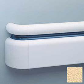 "3-Piece Handrail System, Vinyl w/Aluminum Retainer, 6.25"" Face 12' Long, Silkworm"