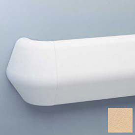 "Flex-Action Triangular Handrail/Wall Guard, 5 3/8"" Face, 12' Long, Toffee"