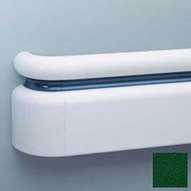 """3-Piece Handrail System, Vinyl w/Aluminum Retainer, 6.25"""" Face 12' Long, Hunter Green"""
