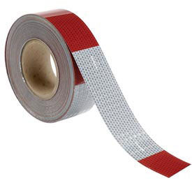 """INCOM Conspicuity Reflective Tape, 11"""" Red/7"""" White Pattern, 13 mil Vinyl, DOT-C2, 150'Lx2""""W, 1 Roll"""