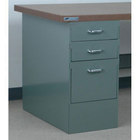 "Stackbin 3 Drawer Pedestal # 4, 15-1/2""W X 30""D X 30-1/4""H, Blue"