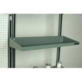"""Stackbin Flat Steel Shelf W/Full Lips, 26""""W X 12""""D, Blue"""