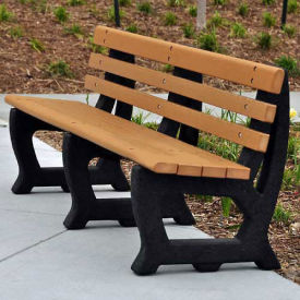 Recycled Plastic 6 Ft. Brooklyn Bench, Gray