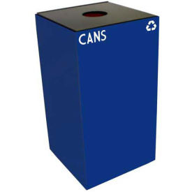 Witt Industries 28GC01-BL Steel Recycling Container with Bottle & Can Opening, 28 Gallon Cap, Blue