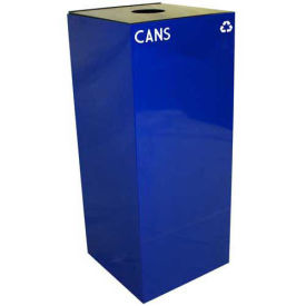Witt Industries 36GC01-BL Steel Recycling Container with Bottle & Can Opening, 36 Gallon Cap, Blue