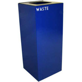 Witt Industries 36GC03-BL Steel Recycling Container with Waste Disposal Opening, 36 Gallon Cap, Blue