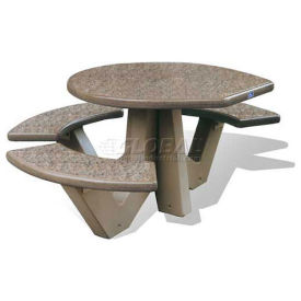 "66"" ADA Compliant Concrete Oval Picnic Table, Sand"