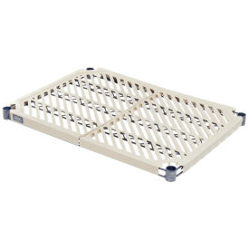 "Nexel Vented Plastic Mat Shelf with Clips, 48""W x 21""D"
