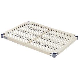 "Nexel Vented Plastic Mat Shelf with Clips, 72""W x 21""D"
