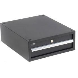 """Stacking Workbench Drawer, Black, 6""""H"""