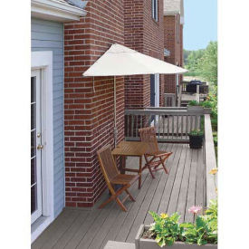 TERRACE MATES® VILLA Economy 5 Pc. Set W/ 7.5 Ft. Umbrella, Natural Sunbrella