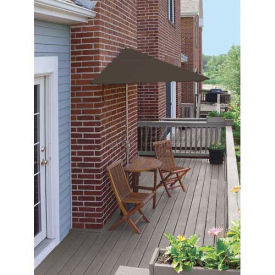 TERRACE MATES® CALEO Economy 5 Pc. Set W/ 7.5 Ft. Umbrella, Chocolate Sunbrella