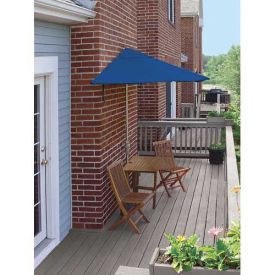 TERRACE MATES® VILLA Economy 5 Pc. Set W/ 7.5 Ft. Umbrella, Blue Sunbrella