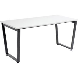 """Single Collaboration Table, 60""""W x 30""""D x 30""""H, Gray"""