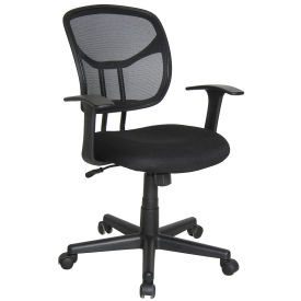 Essentials by OFM E1001 Computer and Task Chair, Black, Fixed Arms, Mid Back
