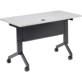 "Flip-Top Training Table, 48"" x 24"", Gray"