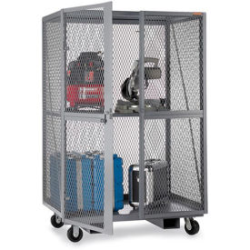 """RELIUS SOLUTIONS Open-Mesh Security Trucks - 60""""Wx24""""Dx72""""H - Gray"""